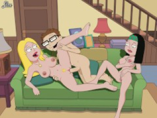 American Dad Porn Steve Fucks Francine And Fills Her Pussy With His Cum