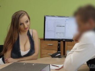 LOAN4K. Slutty bitch with big tits pays with sex for help with car
