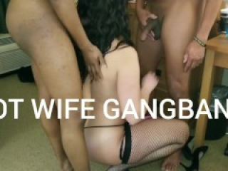 OUR FIRST 2019 BBC GANGBANG! A SEXY BOOTY HOT WIFE! 4k Tinder Fortnite MILF